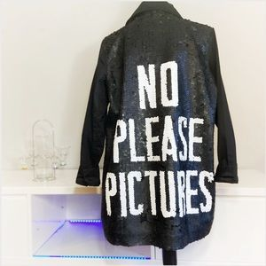 Rock 'N Karma couture utility style sequin jacket